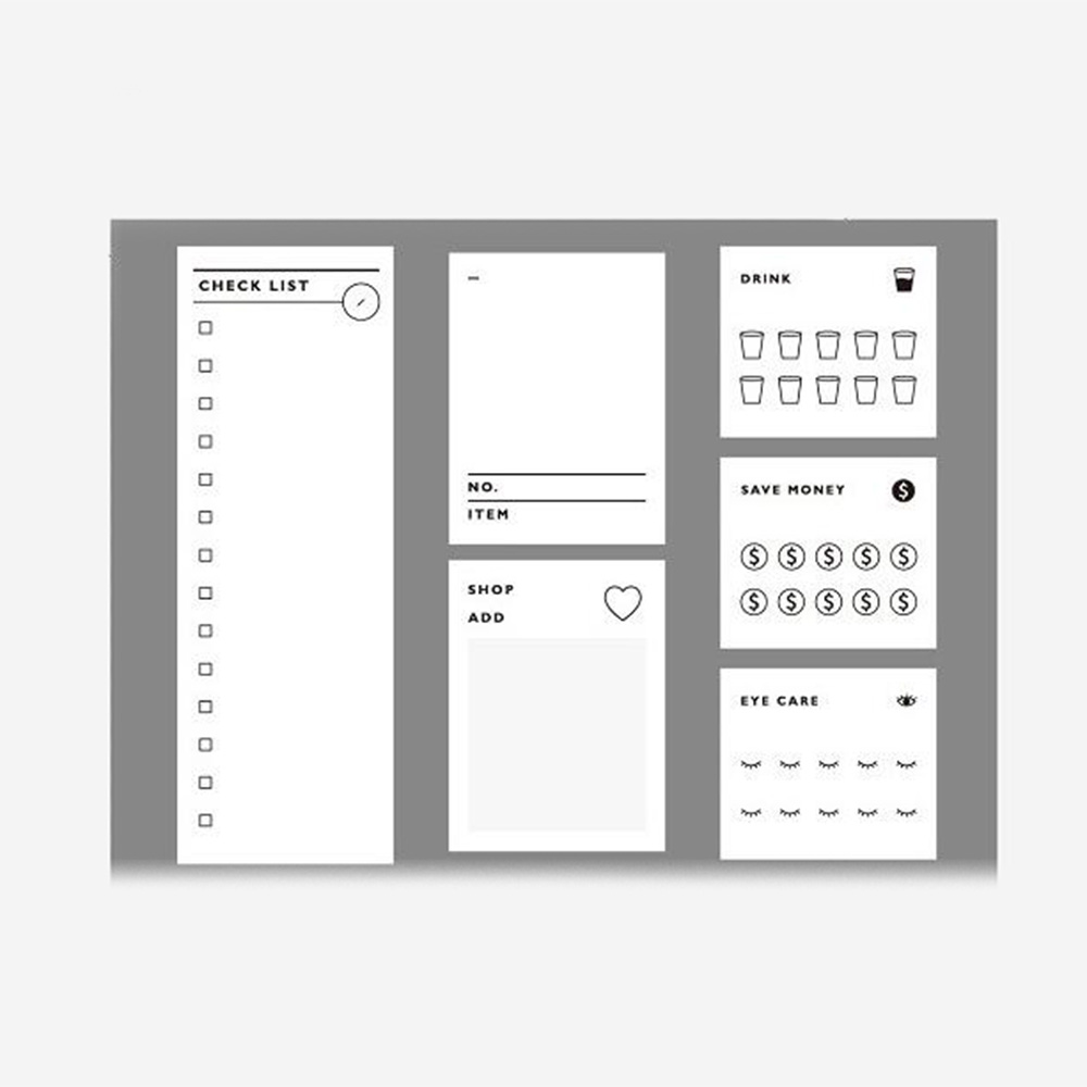Weekly Daily Planner Sticky Notes Time Schedule Checklist Memo Pads for Working School Study 10pcs/lot