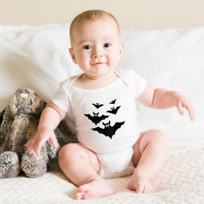 Bébé barboteuse costume bébé escalade vêtements mode combinaisons impression dessin animé chauve-souris motif