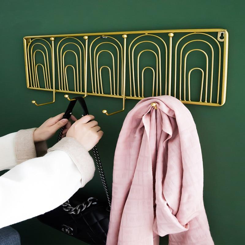 Nordic creative porch hook hanging key rack living room bedroom coat rack hanger door wall hanging nordic decoration home hooks