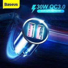 Baseus شحن سريع 4.0 3.0 USB شاحن سيارة آيفون شاومي هواوي QC4.0 QC3.0 QC السيارات نوع C PD سريع سيارة شاحن الهاتف المحمول