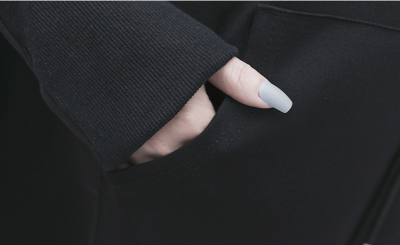 [EAM] Loose Fit Black Irregular Split Sweatshirt New Turtleneck Long Sleeve Women Big Size Fashion Tide Spring Autumn 2020 1Z312 6