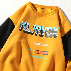 Image 5 - UnaReta Winter Neue Hip hop Männer Sweatshirt Mode Gefälschte zwei stück design Warme Fleece Pullover Tops Mens Casual Streetwear