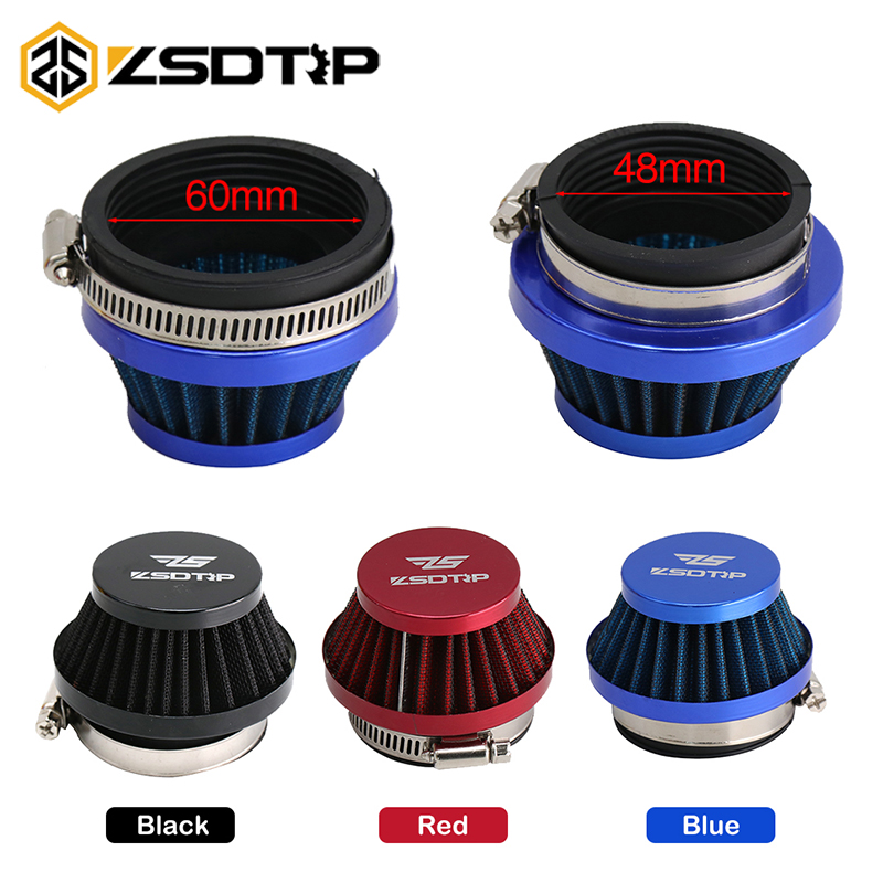 ZSDTRP 50mm 60mm Air Filter Intake Universal For Off-road Motorcycle ATV Quad Dirt Pit Bike Mushroom Head Air Filter