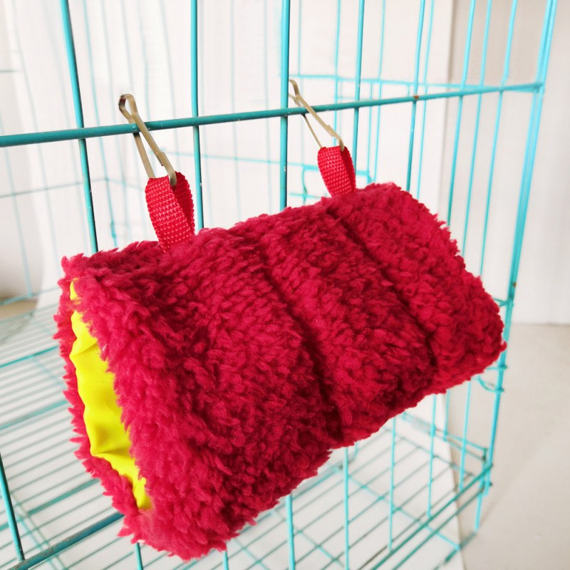 Squirrel Rat Swing Hammock Small Animal Hanging Cave Nest Cages Hedgehog Soft Warm Tunnel Cavia Guinea Pig Hamster Bed