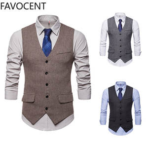 Smart Casual Suit Vest Men Business Vest Waistcoat Men Fashion Formal Dress Vest Suit Single Breasted Classic V-neck Wedding Top