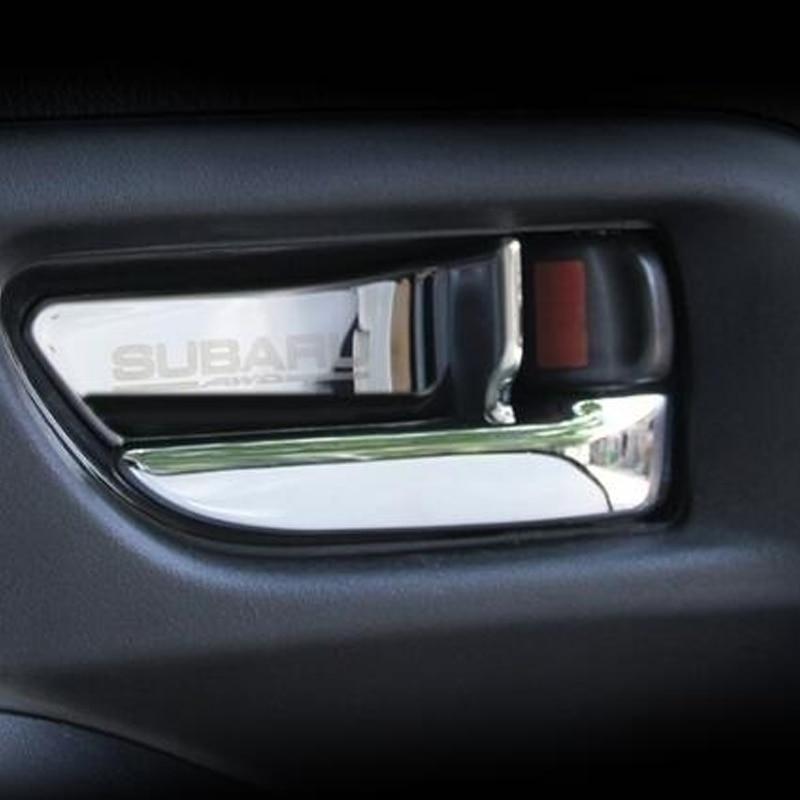 Для Subaru Forester XV Outback датчик для Impreza StI STI 2013 2017 Автомобильный интерьер дверные ручки чаша крышка патч отделка автомобиля Стайлинг