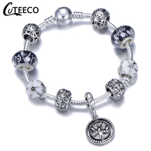 CUTEECO 2019 New Tree Of Life Pendant Charm Bracelet Imitation Silver Color Women Bracelet DIY Handmade Jewelry Gift For Women стоимость