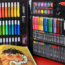 Stationery-Set Crayon Oil-Pastel Drawing-Set Painting Art-Supplies Kids Water-Color-Pen