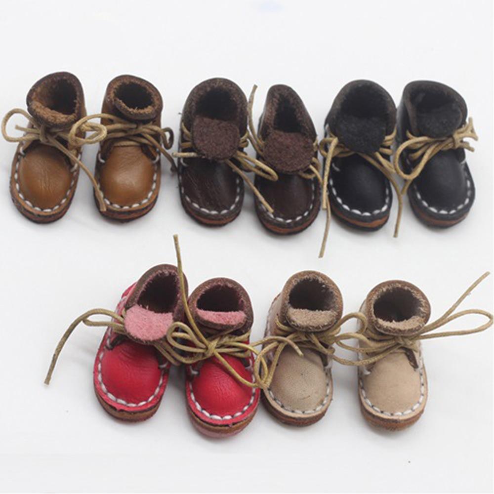 2,3 cm mini zapatos para obitsu OB11 BJD 11CM muñeca zapatos deportivos zapatos bola conjunta muñeca botas de piel hechas a mano