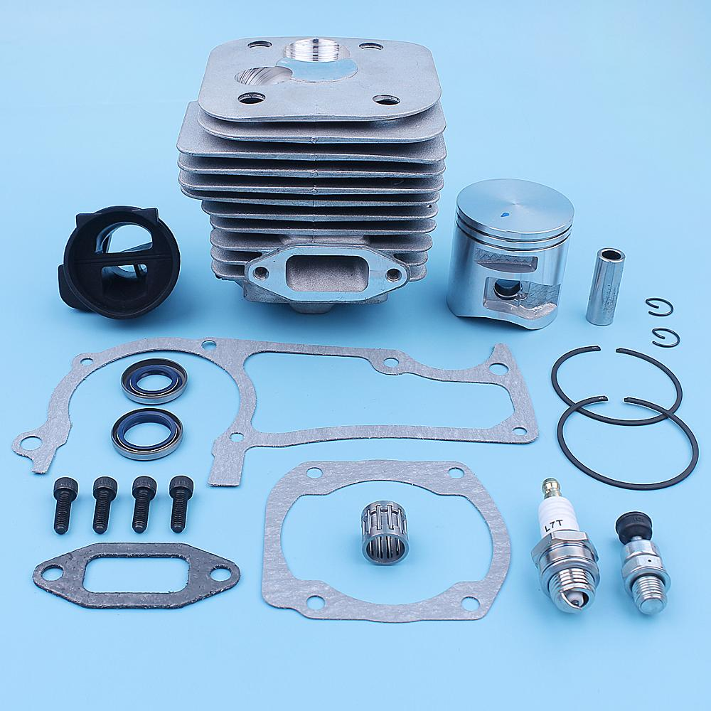 home improvement : 50mm Cylinder Piston Intake Gaskets Kit For Husqvarna 365 X-Torq 372XP X-Torq 372 XP Chainsaw New Style Replacement Spare Parts