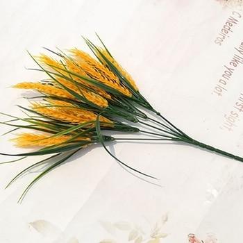 أصفر صغير الأرز زهرة الزهور الاصطناعية ل لوازم ديكورات زفاف للمنزل