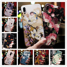 For Xiaomi Redmi 7A Case 3D Flower Emboss Silicone Phone Cas