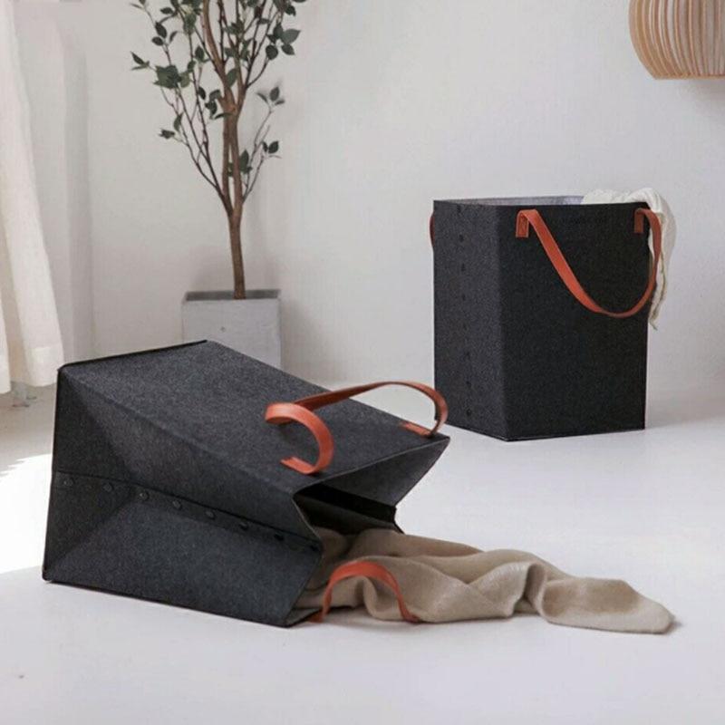 Foldable Laundry Hamper Basket With Handle Sorter Organizer Storage Box Home Supplies PI669