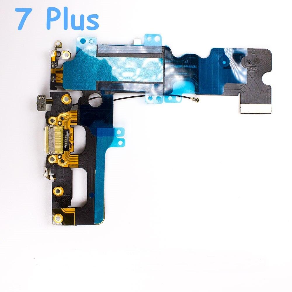 1pcs Mobile Phone Charging Port Flex Cables For Apple IPhone 6 6s 6 Plus 6s Plus 7 + Headphone Audio Jack Flex Cable Replacement