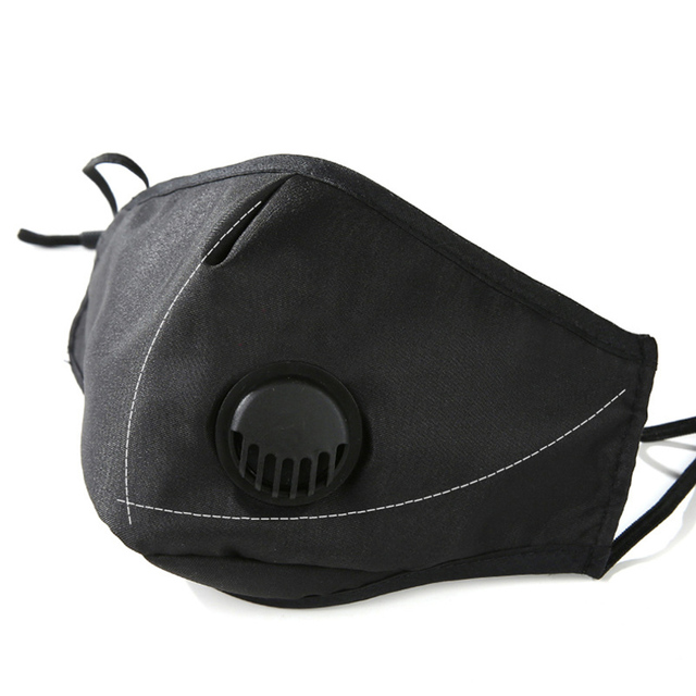 Pm2.5 cotton black mouth mask anti dust mask activated carbon filter windproof mouth-muffle flu-proof Protective face masks care 1