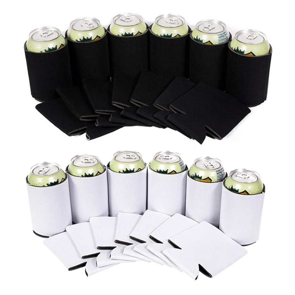 10pcs Lightweight Beer Can Coolers Sleeves Soft Insulated Reusable For Water Bottles Soda Hot Cold Drink Homew Travel Supplies