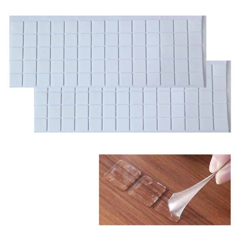 70PCS Waterproof Transparent Double-sided Adhesive Traceless Rubber Sticker Wall Jewelry Photo Frame Mirror Solid Glue