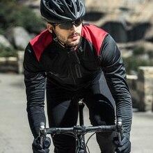 Santic mężczyźni kurtka rowerowa jesień zima wiatroszczelne kurtki MTB płaszcz utrzymać ciepłe oddychające komfort ubrania azjatyckie rozmiar KC6104