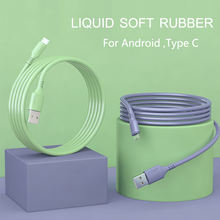 OLAF Liquid charge Cable For Samsung Android Fast Charging Magnet Charger Micro USB Type C Cable Mobile Phone Cord Wire