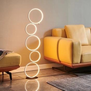 Modern Minimalist Five Rings LED Floor Lamp Floor Lamps