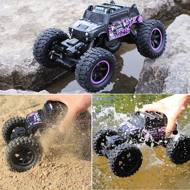 4WD Electric RC Car Rock Crawler Remote Control Toy Cars On The Radio Controlled 4x4 Drive Off-Road Toys For Boys Kids Gift