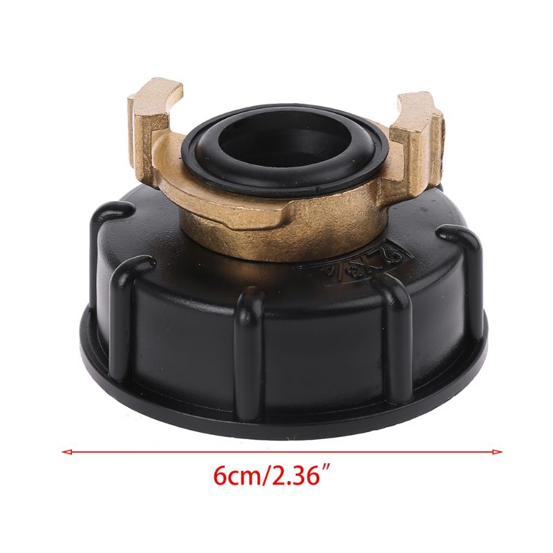 Water storage tank IBC Tank adapter S60X6 <font><b>geka</b></font> style hose connector Irrigation Practical Outlet Thread Accessories Fittings Y4QC image