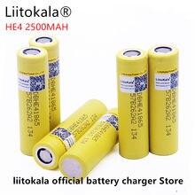 Liitokala do LG HE4 18650 akumulator bateria litowo-jonowa to 3.6 V 2500 MAH bateria może utrzymać, Max 20a, 35A i wyładować papierosa