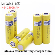 Liitokala voor LG HE4 18650 oplaadbare Li ion batterij 3.6 V 2500 MAH batterij kan handhaven, max 20a, 35A en sigaret lossen