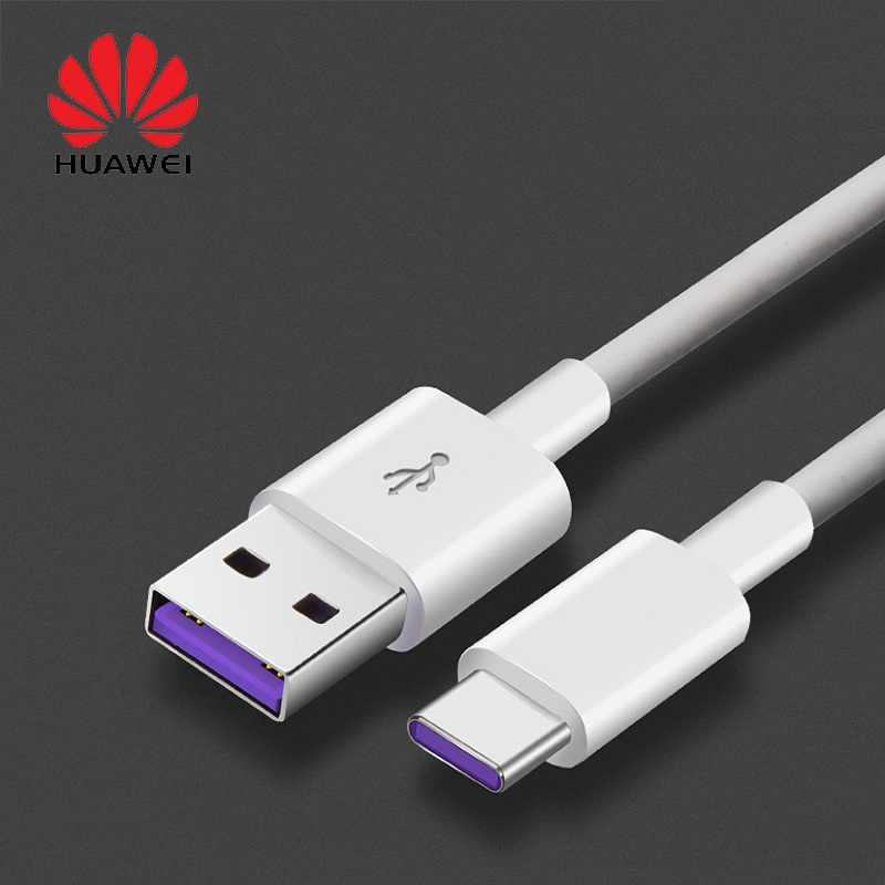 100% Huawei Super Charger 5A ประเภท C สาย USB ข้อมูลสายสีม่วง (สีขาว) high Current FAST CHARGE Multi-Layer Security