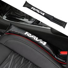 1 sztuk samochodów szczelna naklejka szczelne ochronne szczeliny w siedzeniach paski pokrywa Pad Fit dla Toyota RAV4 akcesoria samochodowe tanie tanio 45cm Chrom stylizacja Z włókna węglowego Auto Leakproof Protective Strips fit for Toyota RAV4 6 7cm 2001-2020 fit for RAV4 -6