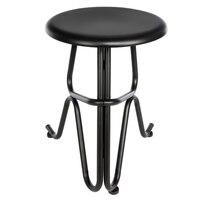 Creative Human Shaped Round Iron Stool Bar Chair Stools Pub Stool Tall Bar Seat Counter Chair Black US Stock
