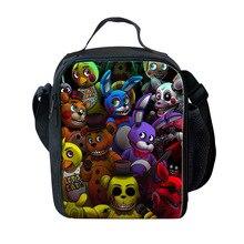 Bag Lunch-Bags Cooler Bento-Box Picnic Travel Kidstote School Cartoon FNAF At for Five-Nights