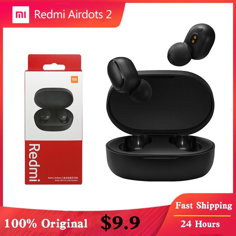 Xiaomi Redmi Airdots 2 Earbuds True Wireless Earphone Bluetooth 5.0 Noise Reductio Headset With Mic Tws Original Xiaomi Airdots