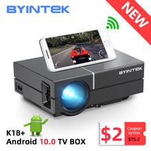 BYINTEK K8 Mini przenośny 1080P 150 calowy projektor kina domowego cyfrowy LCD wideo LED do kina 3D 4K (opcjonalnie Android 10 TV pudełko) tanie tanio Korekcja ręczna CN (pochodzenie) Projektor cyfrowy 4 3 16 9 Brak 200 ANSI lumens System multimedialny 1280x720 dpi 50-2000 inches