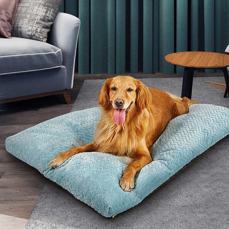 hoopet pet dog mat soft pillow bed for dogs soft flannel thickened pet soft fleece pad winter warm bed mat for medium big dog