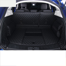 lsrtw2017 for jaguar e-pace leather car trunk mat cargo liner 2017 2018 2019 rug carpet accessories styling wearable durable