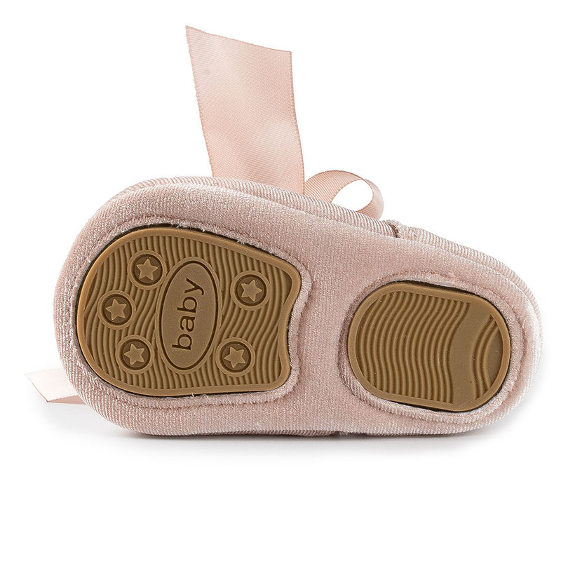 Baby Girl Princess Shoes Toddler Non-slip Flat Soft-sole Cotton Rubber Crib Lovely Butterfly-knot Infant First Walkers 0-18m 5