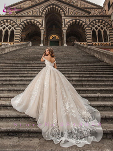 Image 2 - Waulizane Custom Made Link Of Ball Gown Wedding Dresses Off The Shoulder With Gorgeous Lace