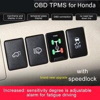 OBD TPMS tire pressure with Car Speed auto Lock Flash Brakes for Honda Civic Spirior Accord HRV CRV Jazz Fit etc Hybrid xrv