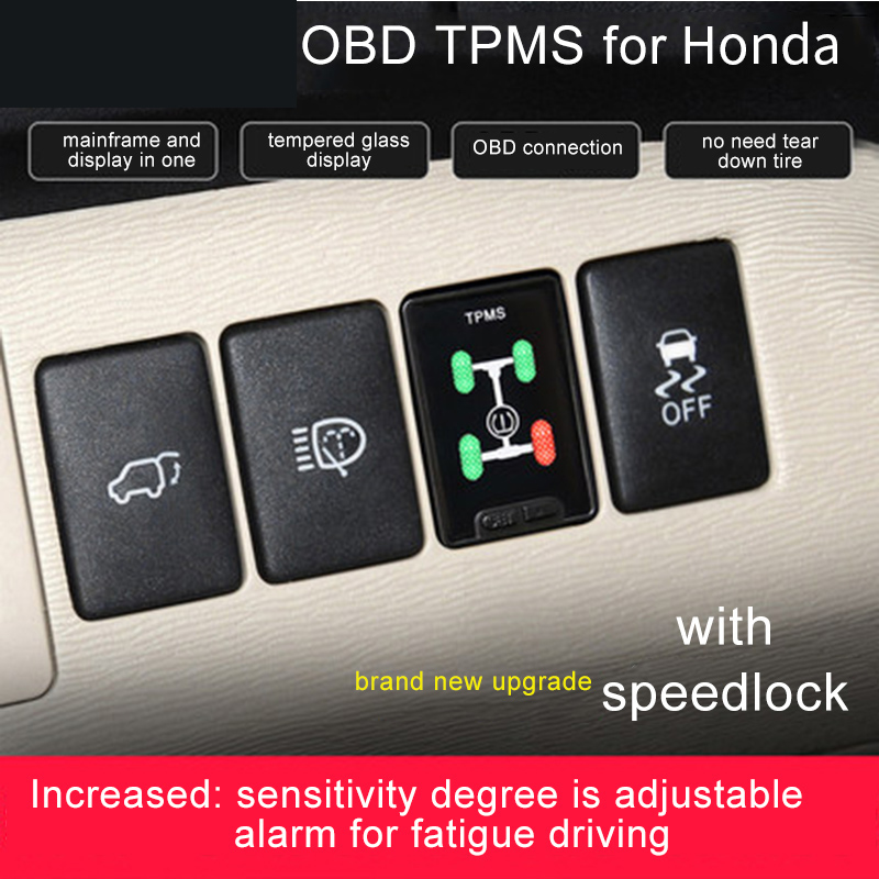 OBD TPMS reifen druck mit Auto Geschwindigkeit auto Lock-Bremsen für Honda Civic Spirior Accord HRV CRV Jazz Fit etc Hybrid xrv