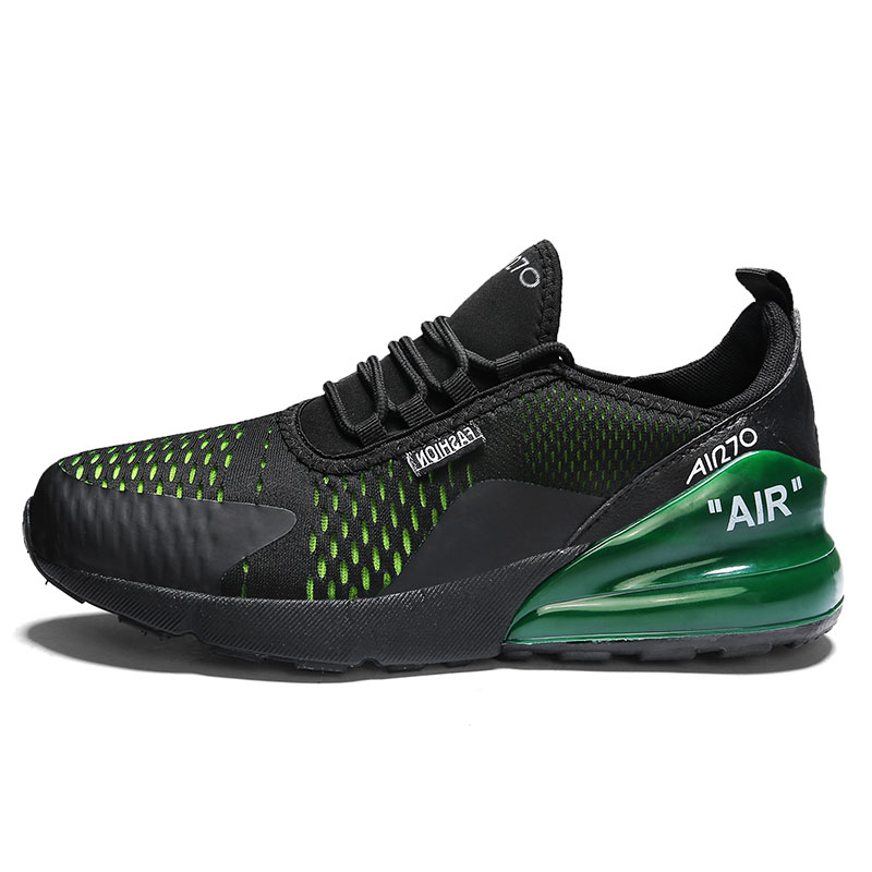 2020 Men Tennis Shoes Air Cushion Mesh Breathable Black Green Non-slip Sneakers Sport Male Trainers Tenis Masculino Basket Homme 1