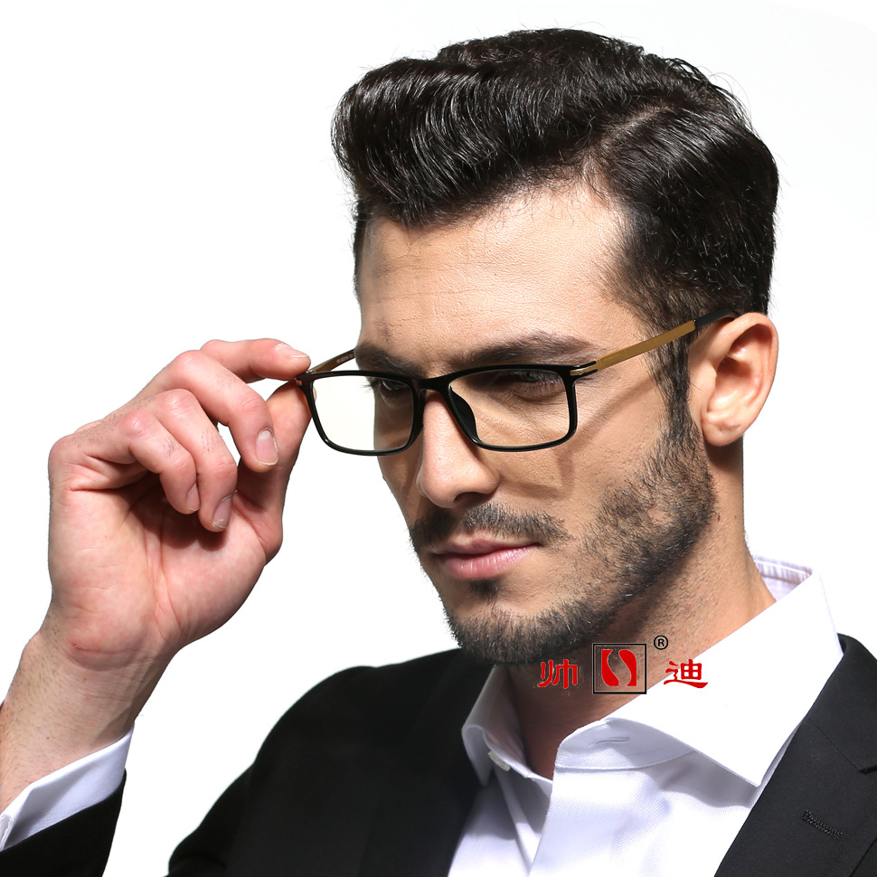 Black Frame Aluminium Alloy Anti-Blueray Anti-Radiation Rayban Glasses Men's And Women's Universal Anti-Blueray Eye Protection P