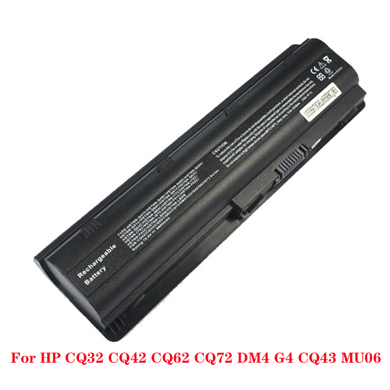 4400mAh Laptop Battery MU06 593553-001 For HP G62 G72 CQ42 DM4 Notebook PC HSTNN-UB0W WD548AA image
