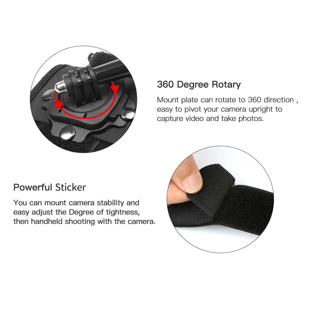 SHOOT 360 Degree Rotation Hand Wrist Strap for GoPro Hero 9 8 7 5 Session Xiaomi Yi 4K Lite SJ4000 H9r Arm Belt Go Pro Accessory-2