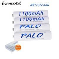 Palo 1100mAh 1,2 v AAA batería recargable para batería de juguete LED y micrófono MP3 Mp4