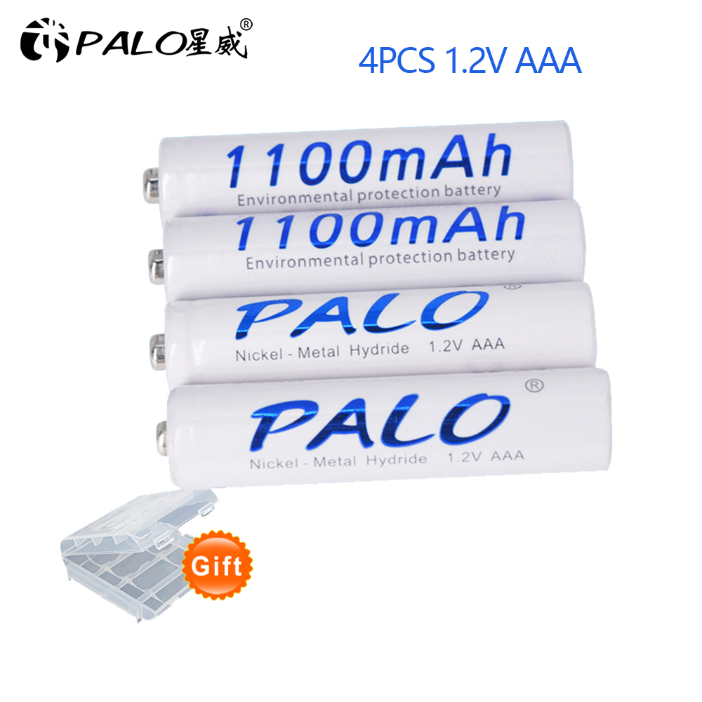 Palo 1100mAh 1.2v AAA Rechargeable Battery For LED Light Toy Placement Battery And Camera MP3 Mp4 Microphone