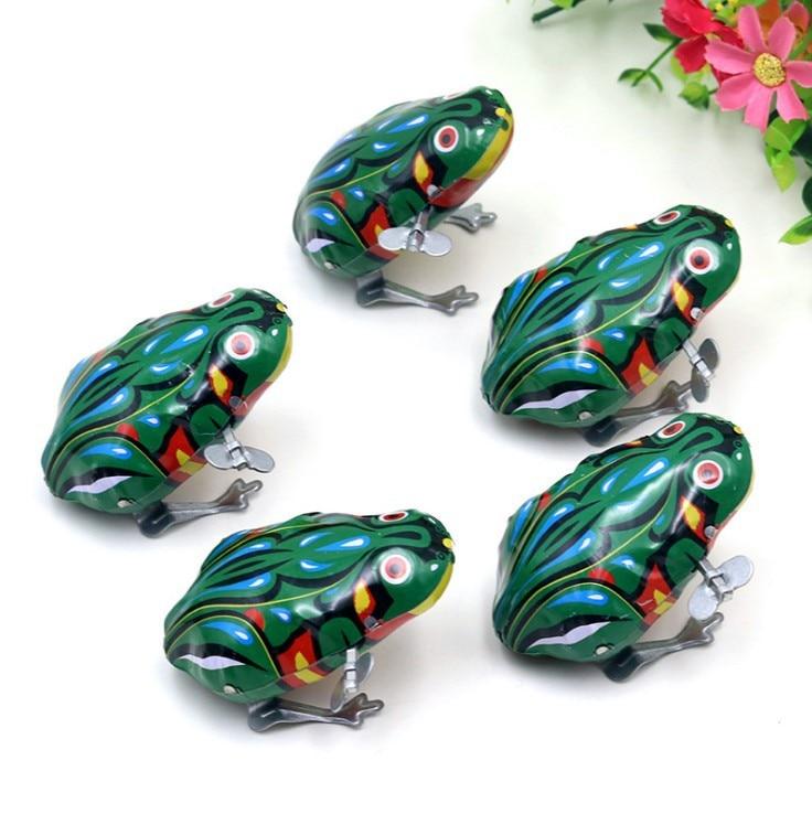 H-01-Algam Frog Nostalgic Wind-up Toy Baby Winding Algam Frog Classic Stall Toy Wholesale