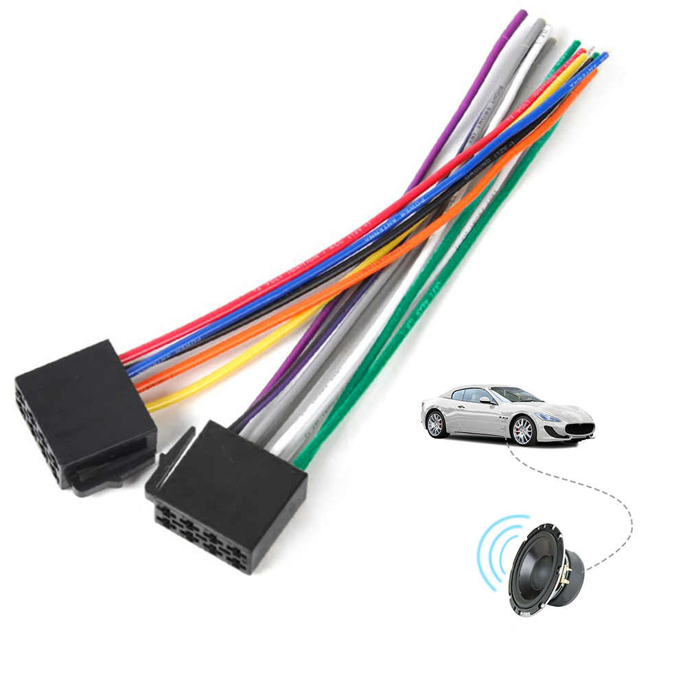 automotive audio wiring harness wire harness female adapter connector cable radio wiring connector  wire harness female adapter connector