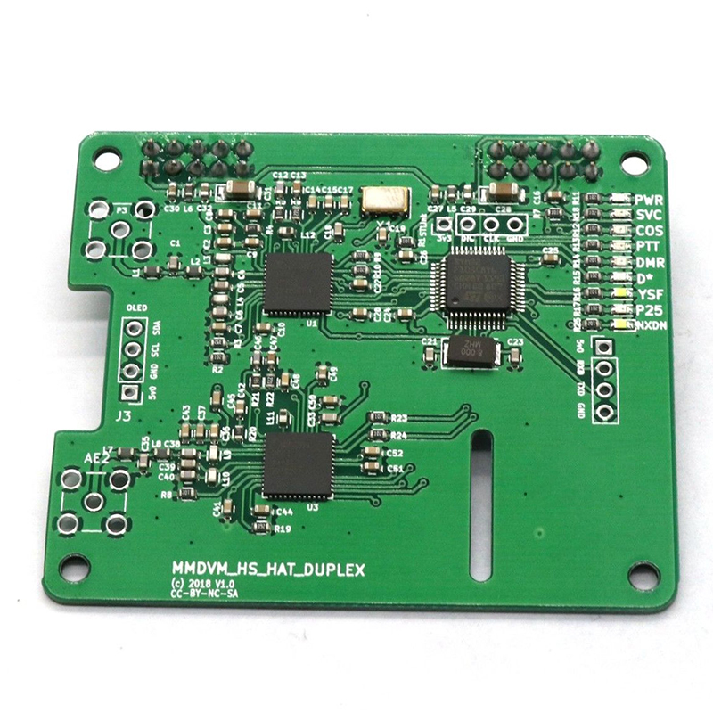 <font><b>Duplex</b></font> MMDVM <font><b>Hotspot</b></font> Module Support P25 <font><b>DMR</b></font> YSF UHF+VHF SLOT1 SLOT2 with 2 SMA Antennas for Raspberry Pi 32-bit ARM processor image