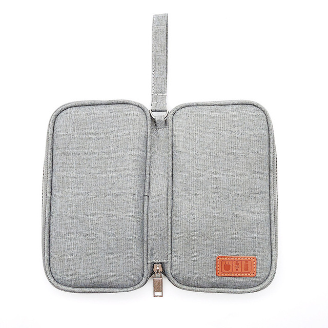Portable Power Bank Storage Bag USB Cables Charger Holder Cable Organizer Pouch Case Travel Electronic Bag Accessories 5